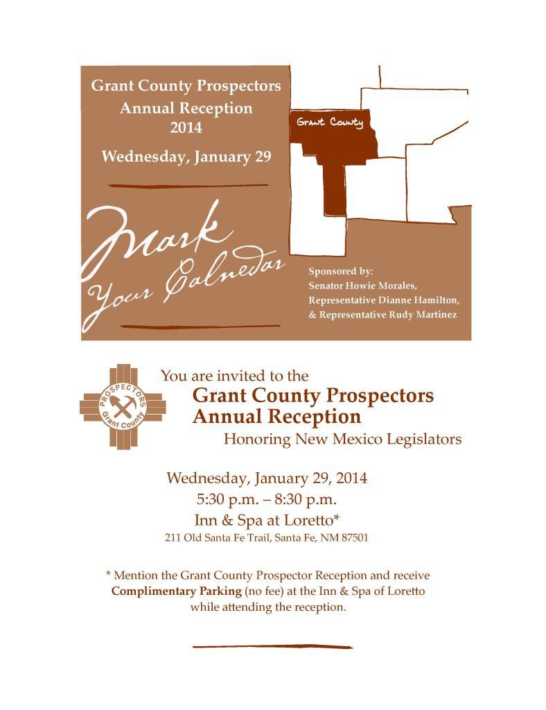 Grant County Prospectors Annual Reception - Santa Fe