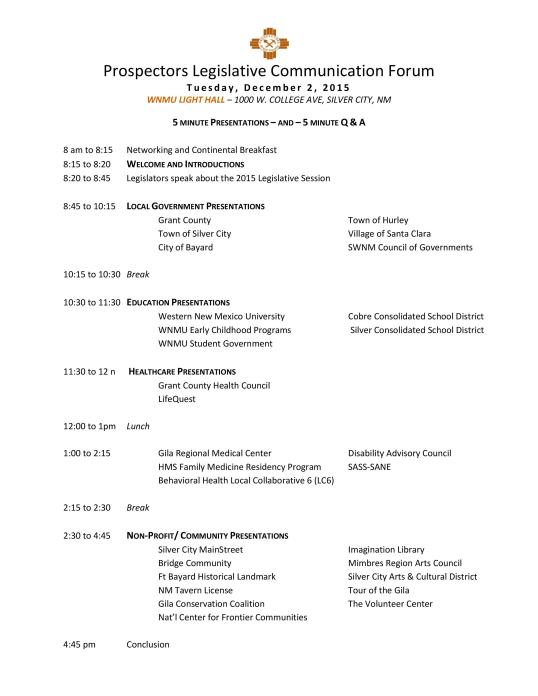2014_Prospectors_Legislative_Forum_Agenda_by_Sector_photo