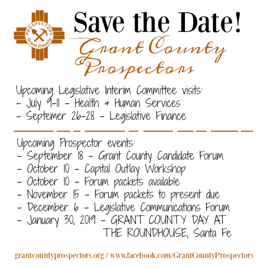 2018 Prospectors save the date